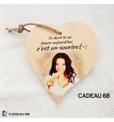Coeur Bois Sourire Cadeau 68
