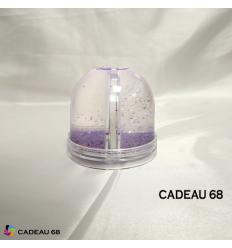 Boule à Neige Violette Personnalisé Cadeau 68