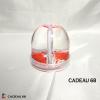 Boule à Neige Rouge Personnalisé Cadeau 68