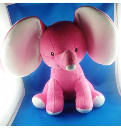 Peluche Elephant Rose personnalisée Cadeau68
