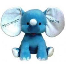 Peluche Elephant Bleue personnalisée Cadeau68