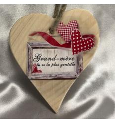 Coeur en Bois Mamie Cadeau68