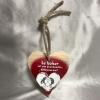 Petit coeur en bois Baiser Cadeau68