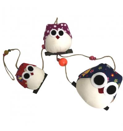 Chouettes Guirlandes famille de 3 personnalisées Cadeau68