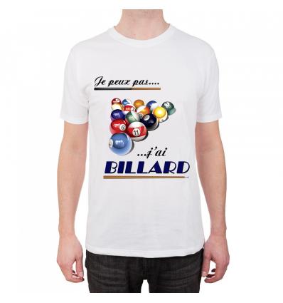 T-shirt Je peux pas j'ai billard Cadeau68