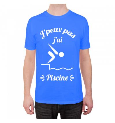 T-Shirt Je peux pas j'ai piscine Cadeau68