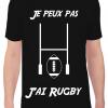 T-Shirt Je peux pas j'ai Rugby Cadeau68