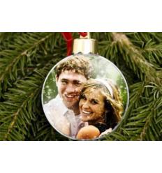 Boule de Noël à personnaliser avec photo