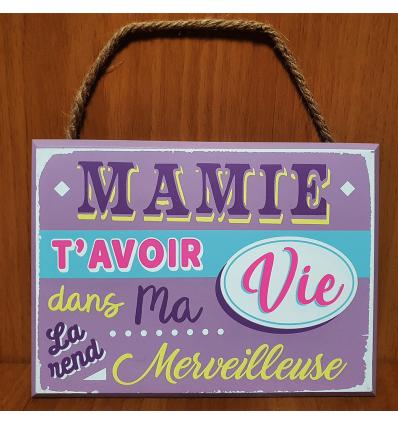 Plaque décorative Mamie