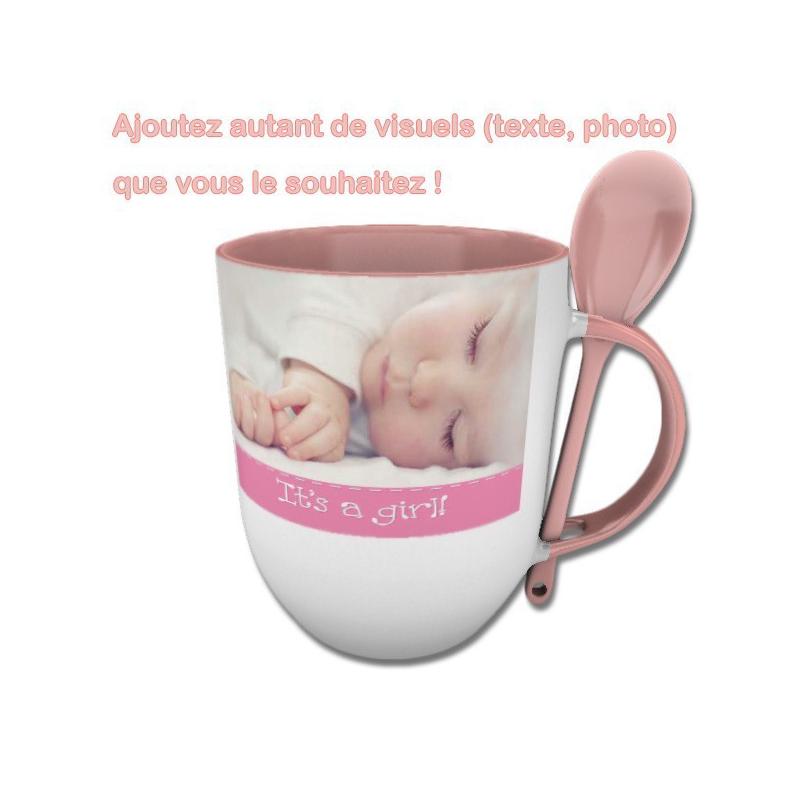 Favori Mug cuillère à personnaliser avec photo, texte ou logo | Cadeau 68 YZ15