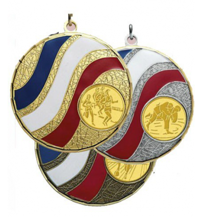 MEDAILLE LAITON TRICOLORE Ø 50mm