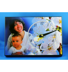 Horloge de table rectangulaire
